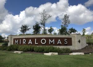 Miralomas Municipal Utility District, Miralomas Entrance Sign