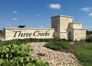 Bell County Municipal Utility District No. 1, Three Creeks Entrance Sign