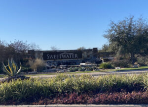 Lazy Nine Municipal Utility District No. 1B, Sweetwater Entrance Sign